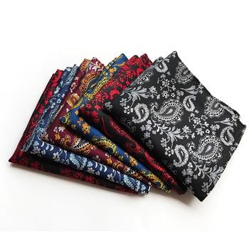 Men Polka Dot Handkerchief  Paisley Flower Pocket Squares Suit Kerchief Silk Adult Napkin Men Pocket Square  Silk Handkerchief pocket handkerchief ortiz reed pocket handkerchief
