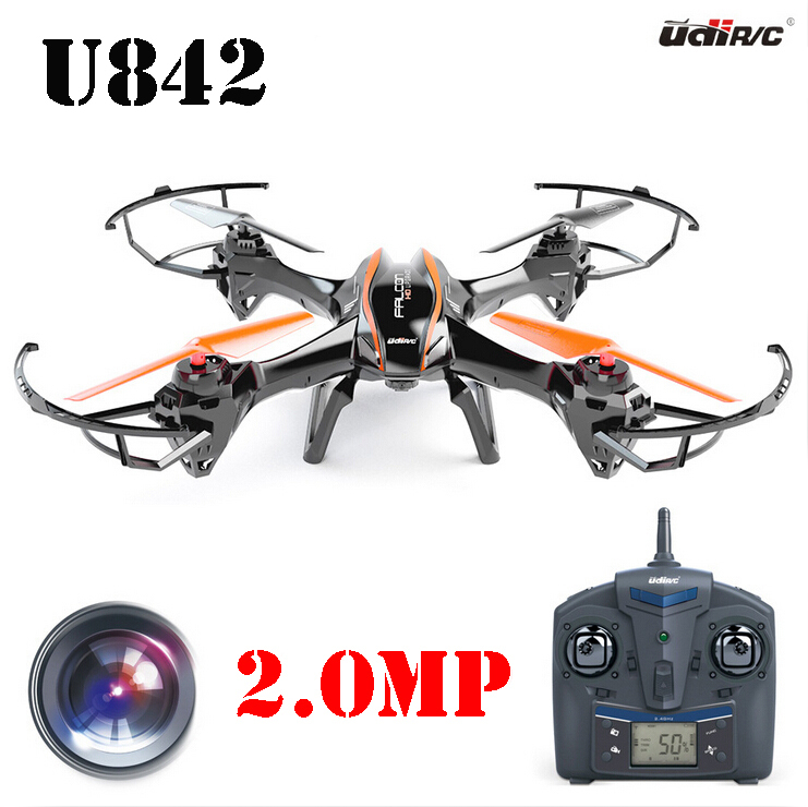 UDI RC U842 6-Axis Gyro 2.4Ghz Falcon RC Quadcopter with HD Camera-Black four axis aircraft lithium battery accessories for udi u842 u842 1 u818s helicopter 3pcs battery and 6 in 1 charger