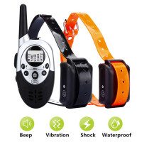 Waterproof Electric Pet Dog Training Collar Rechargeable Shock Collar Pet Remote Trainer Anti bark Controller For Training Dogs