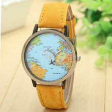 Unisex World Map Watches