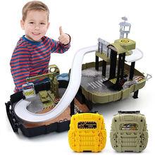 Горячая Магическая машина Набор Обучающие игрушки мобильный Гараж Игрушки «парковка» фигурка гоночная игрушка рюкзак в коробке Детский Рождественский подарок