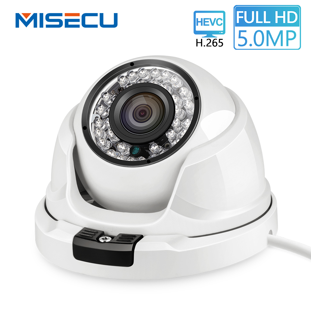 MISECU H 265 Indoor IP Camera 5MP 4MP Optional Motion Detection Mobile Monitoring Email Alert ONVIF