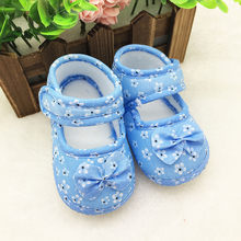 shoes baby 2018 children's shoes girls Printing Bowknot newborn shoe size baby girl shoes kids first walkers bebes nice LD(China)