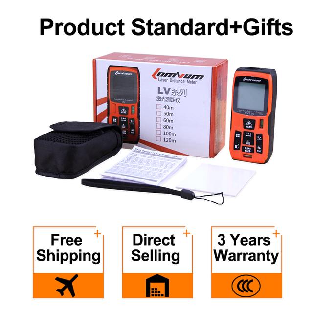 Digital Laser Distance Meter battery-powered laser range finder tape distance measurerLOMVUM 40M 60m 80m 100m Laser Rangefinder