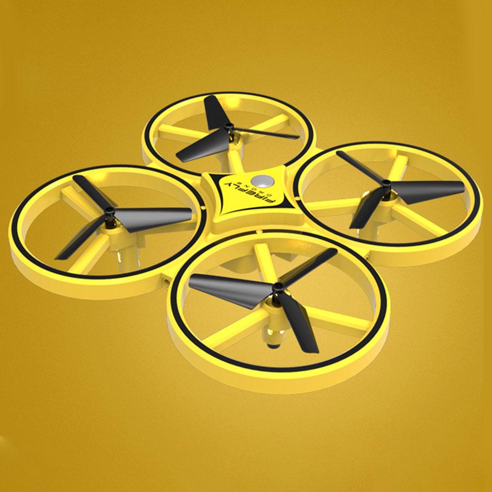 Image 2 - Los niños avión iluminación LED Quadcopter Drone gravedad Sentido de cuatro ejes reloj inteligente juguete de Control remoto gesto interactuarRelojes inteligentes   -
