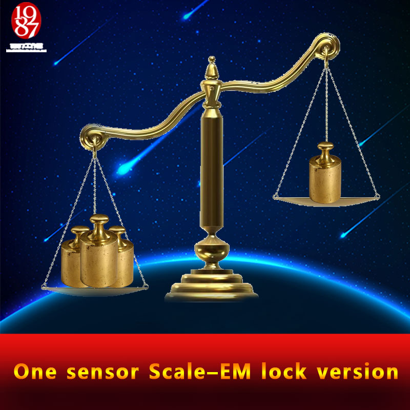 real life room escape game  weight prop Takagism game put the right weight on  scale sensor  to open the door one sensor scale ;