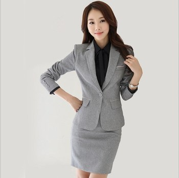 Women Office Uniform Skirt Suit Slim Fit Work Skirt Suits Black Grey Skirt Blazer Outfits Womens 2 Two Piece Skirt Sets formal work wear uniform styles professional spring summer business suit vest skirt ol blazers women skirt suits outfits sets
