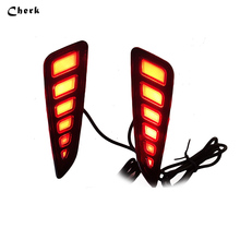 Rear Bumper Lamp For Toyota C-HR CHR 2016 2017 Car LED Rear Brake Light Rear Driving Lights Rear Bumper Lamp 2pcs