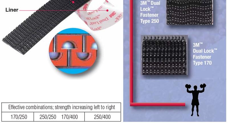 "3 м SJ3551 Тип 400 двойной закрепитель замков самоклеющаяся лента, "" x 1 м(25,4 мм x 1 м"