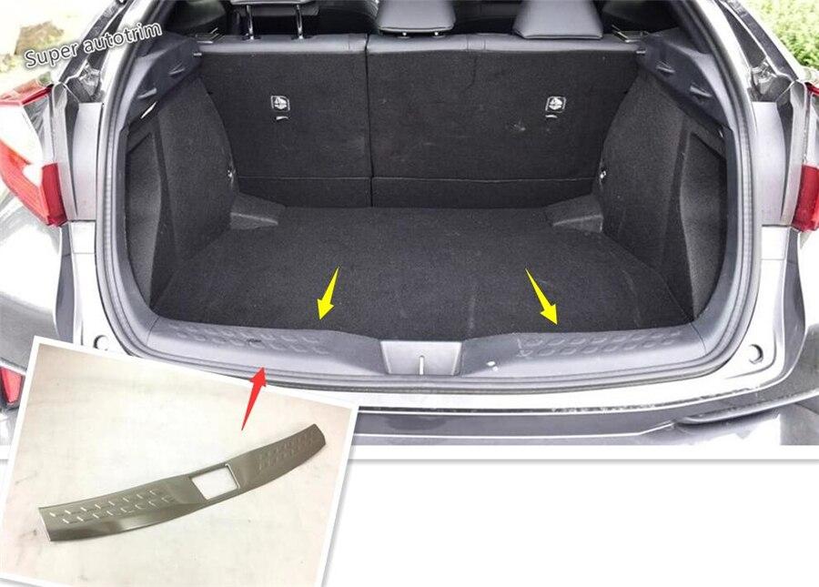 Garniture de couverture de plaque de Protection de seuil de pare-chocs arrière Lapetus 1 pièces adapté pour Toyota C-HR CHR 2016 2017 2018 2019 acier inoxydable