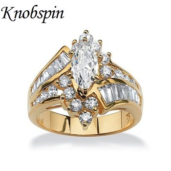 Hot Selling Female Finger Rings Plated Gold/Silver Color Irregular Geometric Round Square Shape Zircon Women Ring Jewelry Gifts