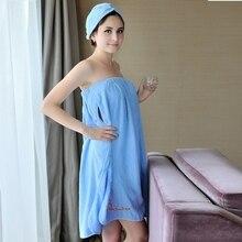 70x150cm Cotton Wearable Bath Towels Blue Bath Skirt Lady Fast Drying Sauna  Spa Beach Swim Bath 83ba094c9