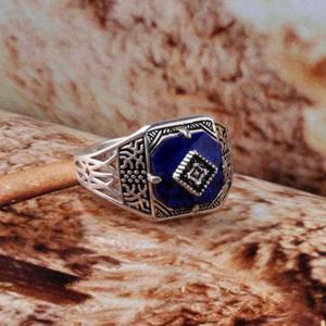 Image 2 - ไดอารี่แวมไพร์แคโรไลน์แหวนS925แหวนเงินสเตอร์ลิงบริสุทธิ์Sliver Carolineแหวนผู้หญิงเครื่องประดับLapis Lazuliหิน