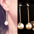 ABS Pearl Earrings Pendant Gold Long Earings Fashion Jewelry 2016 Letter D Luxury Earrings Dangle/Boucle D'oreille Femme Marque