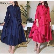 New Arrival High Neck Long sleeve evening dresses 2020 Abendkleider abiye Muslim evening dress Party evening gown