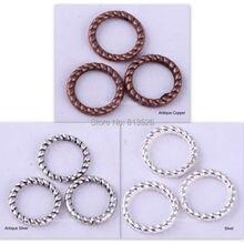 OMH 60 шт серебро/золото/бронза/медь твист-кольцо Шарм найти для изготовления ювелирных изделий 8 мм
