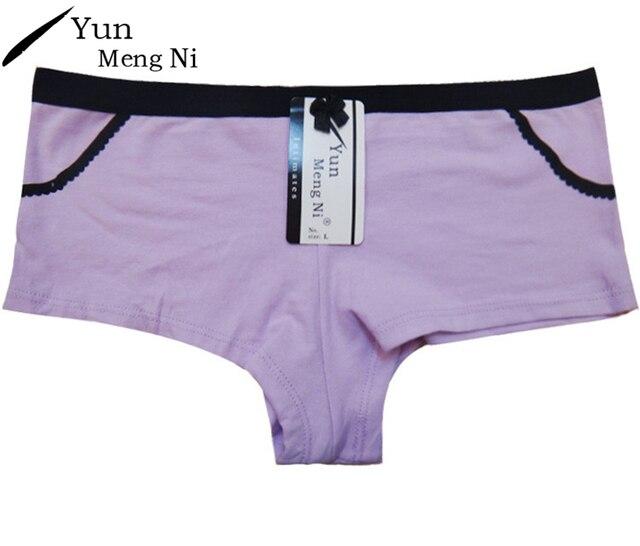 0a1087b1bf3 Yun Meng Ni Sexy Women Underpants Plus Size Cotton Women Boy Shorts Briefs  Panties Underwear Female Boxer Boyshorts Bragas 86985