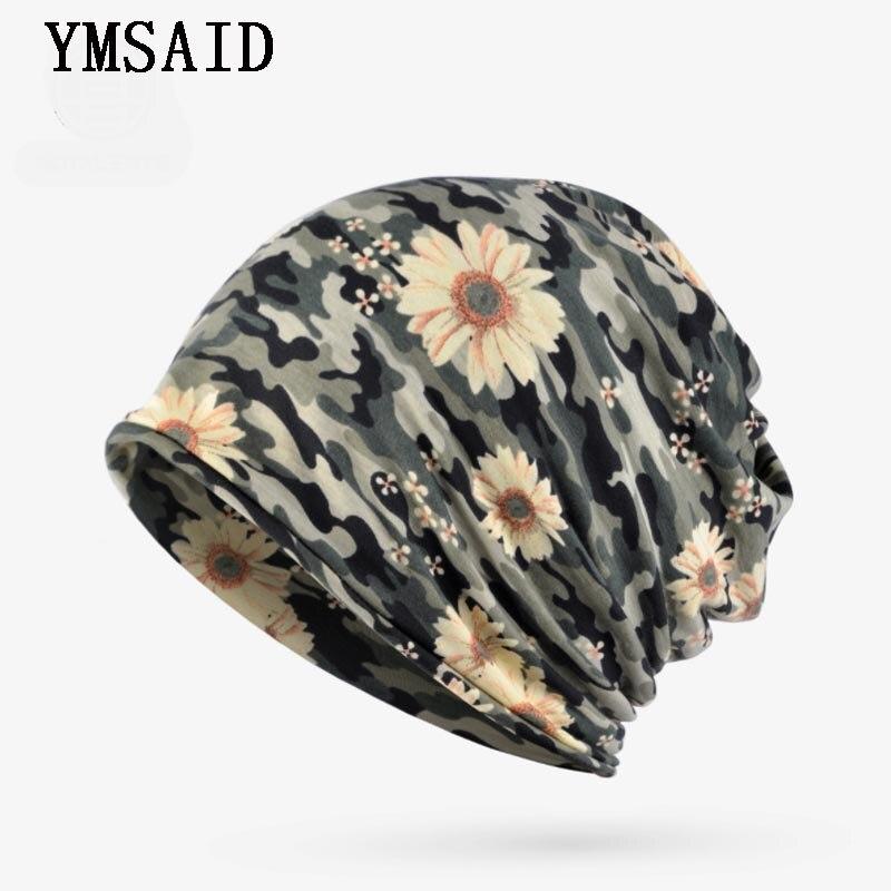 Уличные шапки для женщин, тюрбан, шляпа, камуфляжная шапочка с цветком, головной убор, шапка, маска, воротник, нагрудник, ветрозащитная шапка,...