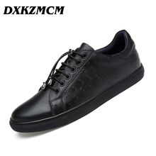DXKZMCM Brand Genuine Leather Men Casual Shoes, Fashion Style Leather Men Shoes, Designer Casual Shoes For Men
