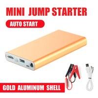 Aluminum shell Mini Portable 12V Car Battery Jump Starter Auto Jumper Engine Power Bank Starting power bank