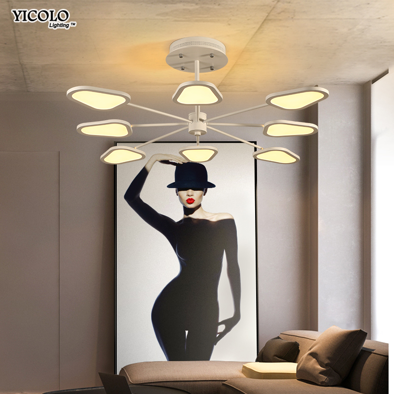 3/6/ 8 heads Dimming Led Ceiling lights lamp For Living room Bedroom Remote control Modern lamps Lighting Fixture deckenleuchte