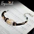 Специальный новинка позолоченные браслеты amp браслеты кристалл керамические браслеты роскошные украшения для девушки женщины SL151006