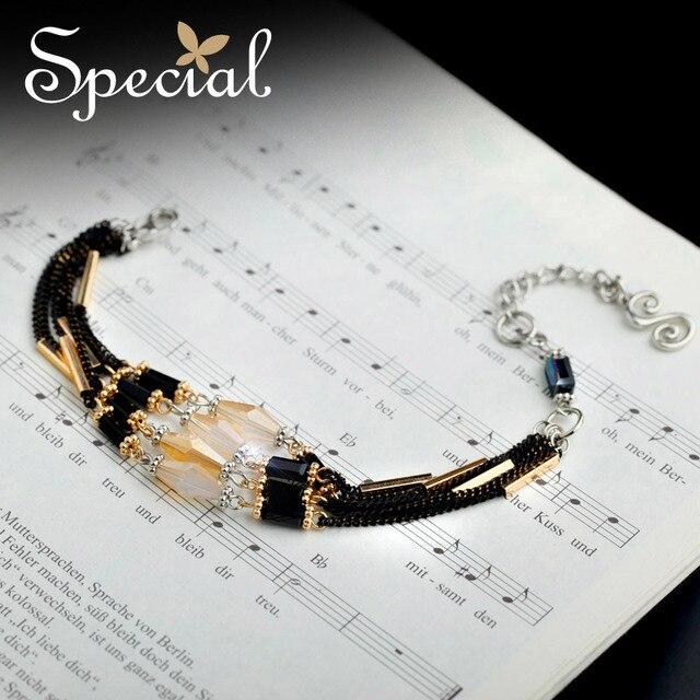 Special New Fashion Gold-plated Bracelets amp Bangles Crystal Ceramic Bracelets Luxury Jewelry for Girls Women SL151006