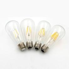 Vintage Edison bulb ST64 incandescent light bulb E27 2W/4W/6W/8W 110/220V decorative light bulb filament lighting tubes Edison