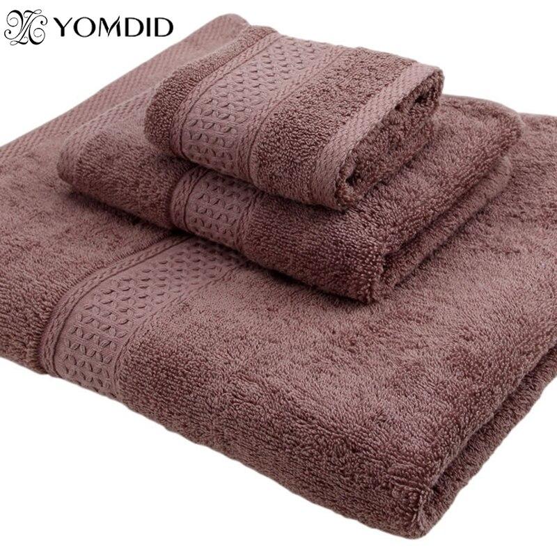 100% cotton Towel set bathtowel + facetowel + handtowel 3pcs/set soft bath face towel ha ...