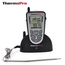 Thermopro TP 09 300 feet 원격 무선 디지털 전자 바베큐/오븐/흡연자/그릴 음식 요리 온도계