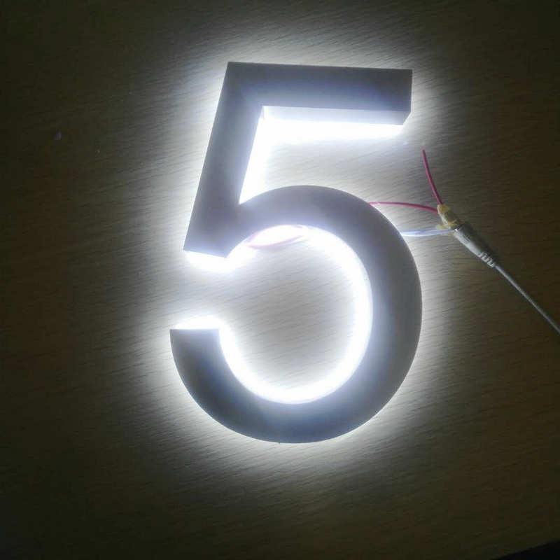 3D acrylic back lit illuminated lettering