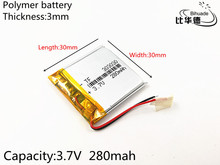 Free shipping 5pcs/lot 3.7V 280mAh 303030 Polymer lithium ion / Li-ion battery for Voice recorder mp3 mp4