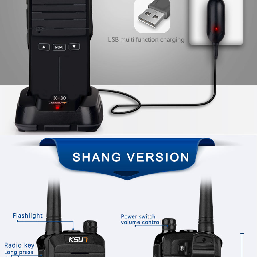 (2pcs) KSUN X-30 handheld walkie talkie portable radio 8W high power UHF Handheld Two Way Ham Radio Communicator HF Transceiver HTB1nptcgtfJ8KJjy0Feq6xKEXXaA