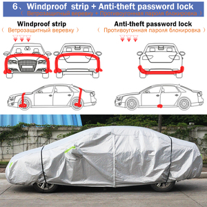 Image 5 - Cawanerl Three Layer Thick Car Cover Waterproof Anti UV Sun Rain Snow Hail Dust Protection Surface Aluminum Foil + Inner Cotton