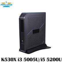 Partaker I3 5005U I5 4200U Fan Mini PC With VGA HDMI Ports