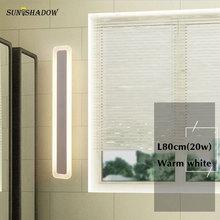 Simple Modern Led Wall Light White Sconce Led Wall Lamp 100cm 80cm 60cm Bathroom Mirror Front Light Bathroom Lamp Bedside Lights недорого