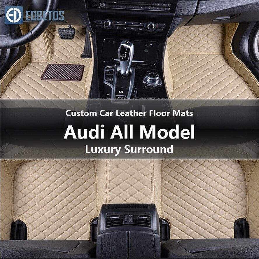 Tapis de sol en cuir de voiture sur mesure pour Audi tous les modèles SQ5 TT Quattro V8 Quattro tapis de sol en fil Surround de luxe Auto 2014-2015