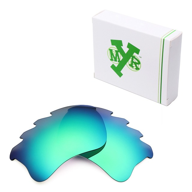 MRY POLARIZED Replacement Lenses for Oakley Flak Jacket XLJ Vented Sunglasses Emerald Green