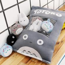 New A baf of My Beighbor Totoro Plush Toy Japanese Anime Cartoon Black Cat White Blue Soft Doll Kids Gift