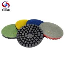 (4DS7) 7 pieces/lot 4inch Enhanced thick concrete Polishing Pad, Diamond Pad,Granite polishing buff wholesale