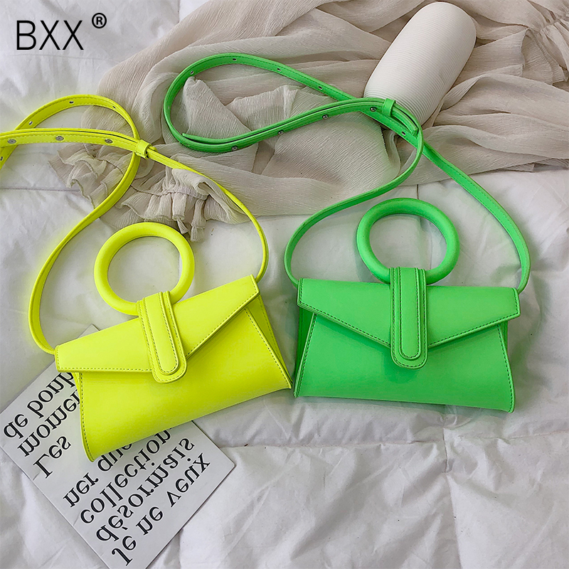 [BXX] Women's Single Shoulder Crossbody Bag All-match Flap 2020 Casual Laides Mini Portable Handbag Chic Chest Waist Bag HE951