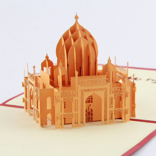 The construction of Taj Mahal tourism 3D cubic life manual paper card card creative stereo the construction of taj mahal tourism 3d cubic life manual paper card card creative stereo