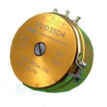 1 pçs novo WDD35D-4 precisão potenciômetro condutor plástico sensor de deslocamento angular 1 k 2 k 5 k 10 k linear 0.5%