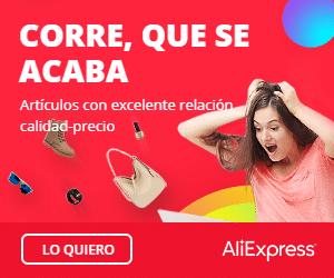Plataformas de compras online: Aliexpress (cupón nuevos artículos en oferta)
