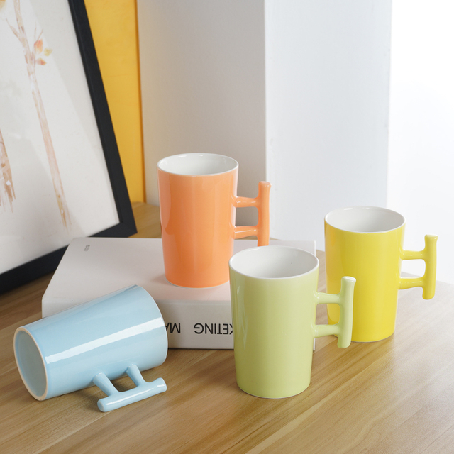 400ml 1pcs Novelty Milk Mug Underglaze Color Ceramic Creative Coffee Porcelain Tea Cup With Handgrip Nice