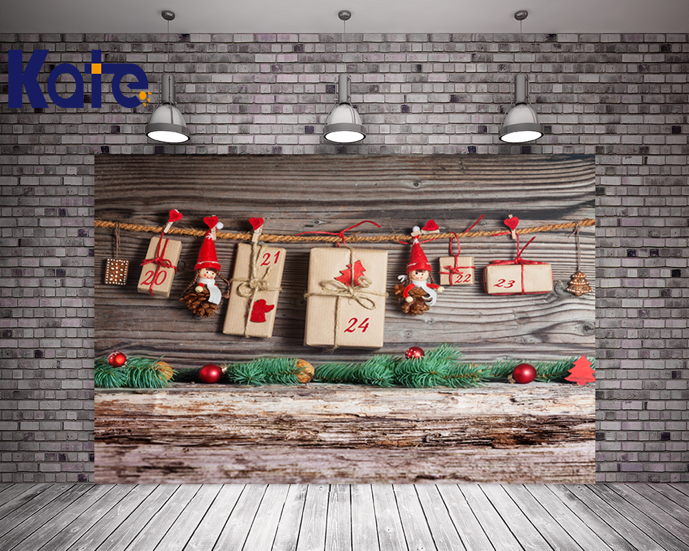 Kate Christmas Photography Backdrops Wood Floor Background Merry Christmas Red Beads For Children Photo Studio Backdrop retro background christmas photo props photography screen backdrops for children vinyl 7x5ft or 5x3ft christmas033