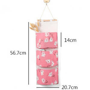 Image 3 - 2019 NEW Organizer Foldable Hanging Pocket Cloth Door Flower Storage Bag Home Household Items Laundry Basket Organizador