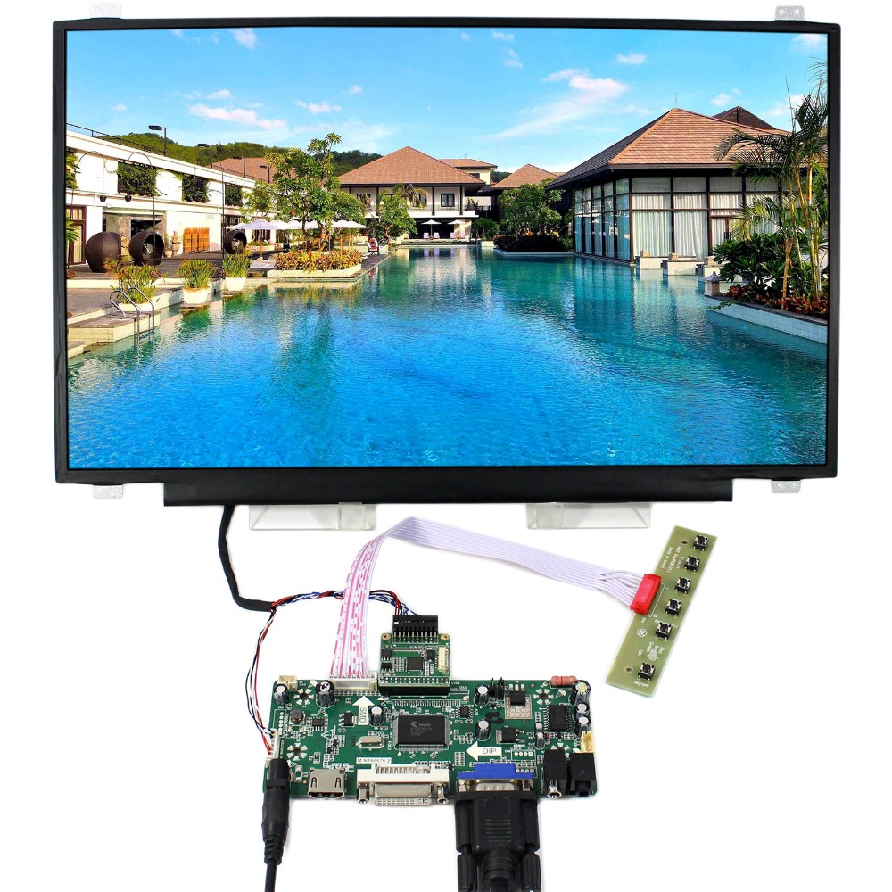 HDMI DVI VGA LCD Control Board With 17.3inch 1920x1080 N173HCE-E31 LCD Screen 8 4 8 inch industrial control lcd monitor vga dvi interface metal shell open frame non touch screen 800 600 4 3