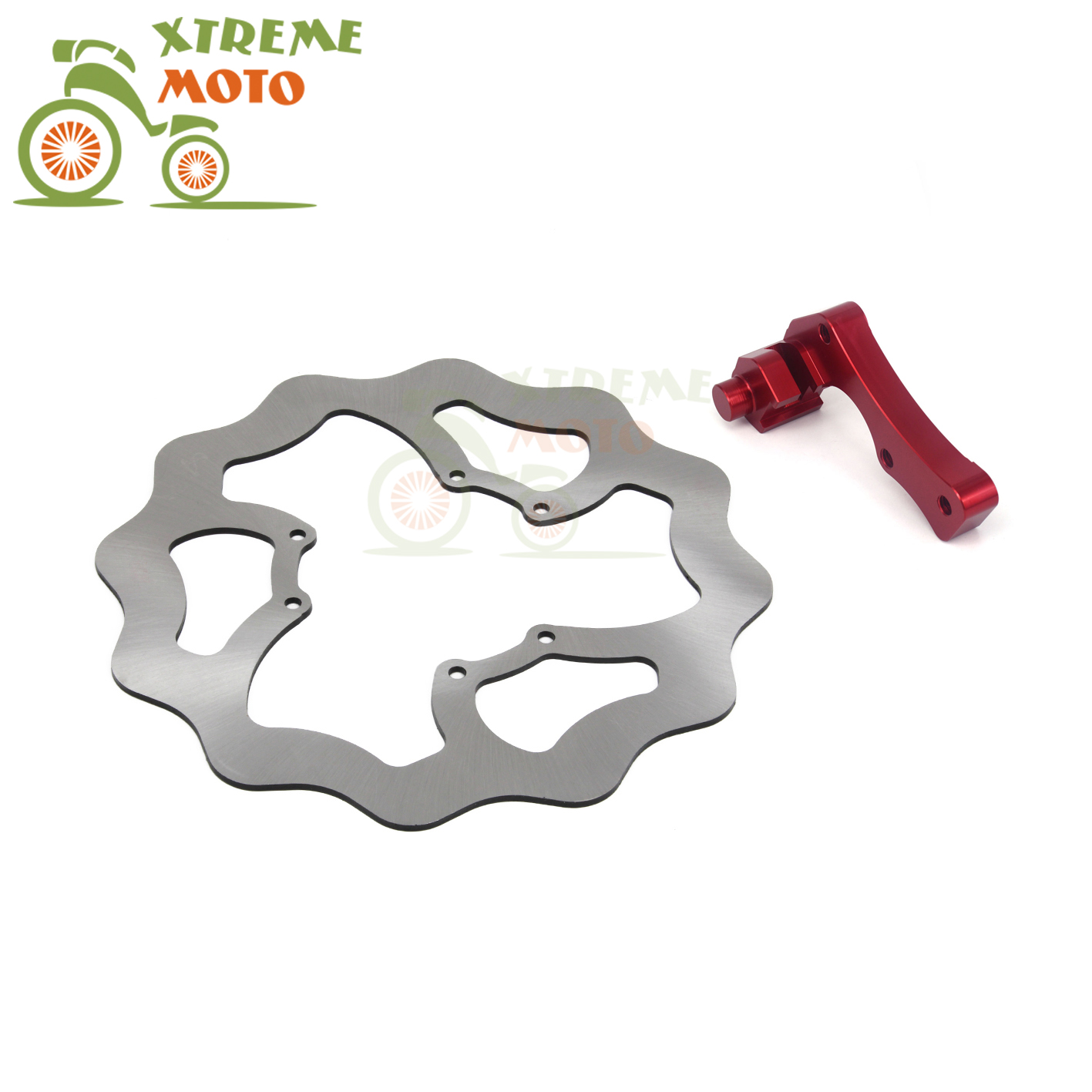 270MM Front Wavy Brake Disc + Bracket For Honda CR125E 125R 250E 250R CRE250F 250X 250R CRF250X 250R 450R 450X Motocross Enduro 270mm front brake disc rotor for cr 125 250 500 crf 250r 250x 450x 450r 230f motocross supermoto enduro dirt bike off road