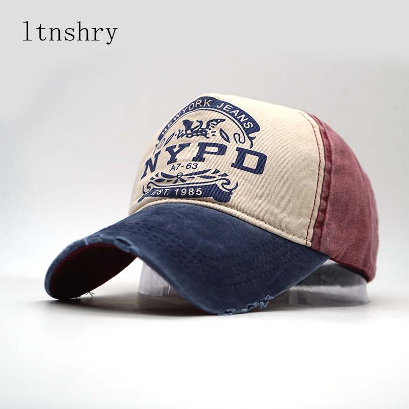wholsale snapback   cap   Letter Style NYPD   baseball     cap   fitted hat Fashion Casual   cap   panel wash   cap   for men women unisex Gorras